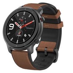"""Смарт-часы XIAOMI Amazfit GTR, 47мм, 1.39"""", черный / коричневый"""