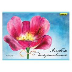 Альбом для рисования Silwerhof 911153-74 40л. A4 Акварельный цветок 1диз. мел.картон офс.лак склейка 5 шт./кор.