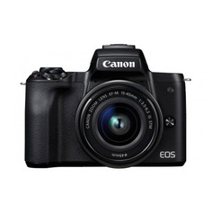 Фотоаппарат CANON EOS M50 kit ( 15-45 IS STM), черный [2680c012]