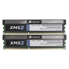 Модуль памяти CORSAIR XMS3 CMX4GX3M2A1600C9 DDR3 - 2x 2Гб 1600, DIMM, Ret