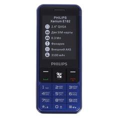 Мобильный телефон PHILIPS Xenium E182, синий