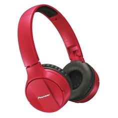 Наушники с микрофоном PIONEER SE-MJ553BT-R, Bluetooth, мониторы, красный