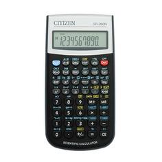Калькулятор CITIZEN SR-260N, 12-разрядный, черный