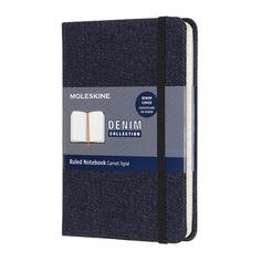 Блокнот Moleskine LE DENIM Pocket 90x140мм обложка текстиль 192стр. линейка темно-синий Prussian blu