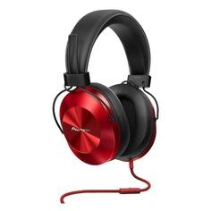 Наушники с микрофоном PIONEER SE-MS5T-R, 3.5 мм, мониторы, красный