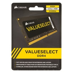 Модуль памяти CORSAIR CMSO4GX4M1A2133C15 DDR4 - 4Гб 2133, SO-DIMM, Ret