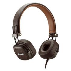 Наушники с микрофоном MARSHALL Major III, 3.5 мм, накладные, коричневый