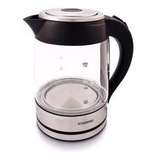 Чайники электрические Чайник электрический STARWIND SKG4710, 2200Вт, серебристый и черный