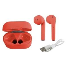 Наушники с микрофоном REDLINE nanoBeats Color BHS-14, Bluetooth, вкладыши, оранжевый [ут000018079]