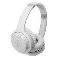 Наушники с микрофоном AUDIO-TECHNICA ATH-S200BT, Bluetooth, накладные, белый [15120053]