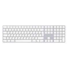 Клавиатура APPLE MQ052RS/A, USB, беспроводная, белый