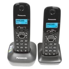 Радиотелефон PANASONIC KX-TG1612RUH, темно-серый