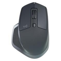 Мышь LOGITECH MX Master 2S, оптическая, беспроводная, USB, графитовый [910-005139]