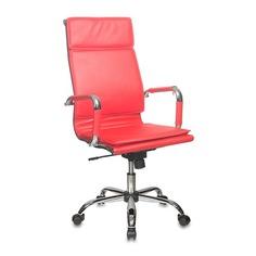 Кресло руководителя БЮРОКРАТ CH-993, на колесиках, искусственная кожа, красный [ch-993/red]