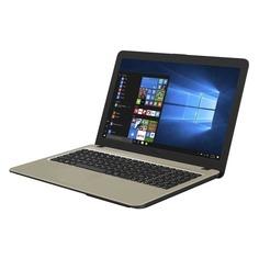 "Ноутбук ASUS VivoBook X540BA-GQ386T, 15.6"", AMD A4 9125 2.3ГГц, 4Гб, 500Гб, AMD Radeon R3, Windows 10, 90NB0IY1-M05310, черный"
