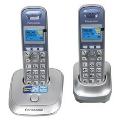 Радиотелефон PANASONIC KX-TG2512RUS, серебристый