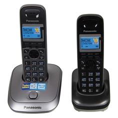 Радиотелефон PANASONIC KX-TG2512RU1, серый металлик