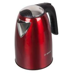 Чайник электрический BOSCH TWK7804, 2200Вт, красный