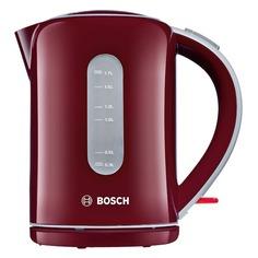 Чайник электрический BOSCH TWK7604, 2200Вт, бордовый