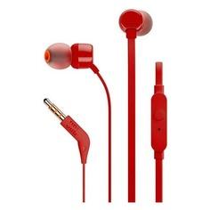 Наушники с микрофоном JBL Т110, 3.5 мм, вкладыши, красный [jblt110red]