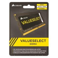 Модуль памяти CORSAIR CMSO8GX4M2A2133C15 DDR4 - 2x 4Гб 2133, SO-DIMM, Ret
