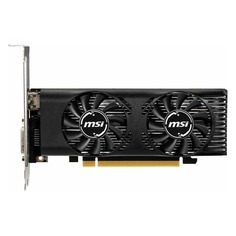 Видеокарта MSI nVidia GeForce GTX 1650 , GTX 1650 4GT LP OC, 4ГБ, GDDR5, Low Profile, OC, Ret