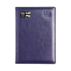 Ежедневник LETTS Global De-Luxe, недатированный, A5, белые страницы, кожа натуральная, синий [412 127020]