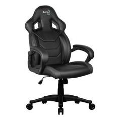 Кресло игровое AEROCOOL AC60C AIR-B, на колесиках, ПВХ/полиуретан, черный