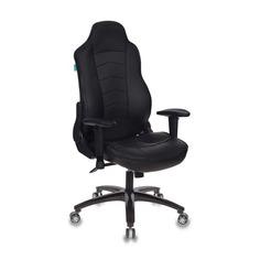 Кресло игровое БЮРОКРАТ VIKING-3, на колесиках, искусственная кожа, черный [viking-3/black]