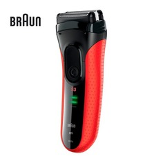Электробритва BRAUN Series 3 3030s, черный и красный