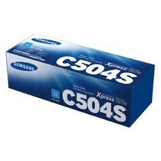 Картридж SAMSUNG CLT-C504S, голубой [su027a]