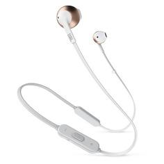Наушники с микрофоном JBL T205BT, Bluetooth, вкладыши, белый/розовое золото [jblt205btrgd]