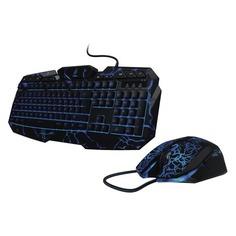Комплект (клавиатура+мышь) HAMA uRage Illumination, USB, проводной, черный [r1113768]