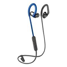 Наушники с микрофоном PLANTRONICS BackBeat Fit 350, Bluetooth, вкладыши, серый/синий [212345-99]