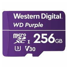 Карта памяти microSDXC UHS-I U3 WD Purple 256 ГБ, 100 МБ/с, Class 10, WDD256G1P0A, 1 шт.