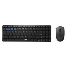Комплекты (Клавиатура+Мышь) Комплект (клавиатура+мышь) RAPOO 9300M, USB, беспроводной, черный [18467]