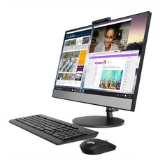 "Моноблок LENOVO V530-24ICB, 23.8"", Intel Core i3 8100T, 4Гб, 1000Гб, Intel UHD Graphics 630, DVD-RW, noOS, черный [10uw0003ru]"