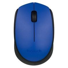 Мышь LOGITECH M171, оптическая, беспроводная, USB, синий и черный [910-004640]