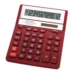 Калькулятор CITIZEN SDC-888XRD, 12-разрядный, красный