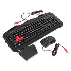 Комплект (клавиатура+мышь) A4 Q2100/B2100 (Q210+Q9), USB, проводной, черный