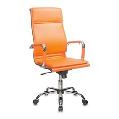 Кресло руководителя БЮРОКРАТ CH-993, на колесиках, искусственная кожа, оранжевый [ch-993/orange]