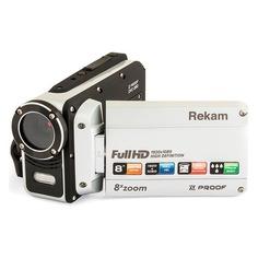 Видеокамера REKAM DVC-380, серебристый, Flash [2504000003]