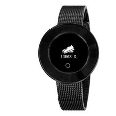 """Смарт-часы KREZ Tango, 35мм, 0.66"""", черный / черный [sw24]"""