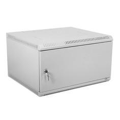 Шкаф коммутационный ЦМО (ШРН-Э-6.350.1) 6U 600x350мм пер.дв.стал.лист несъемн.бок.пан. серый