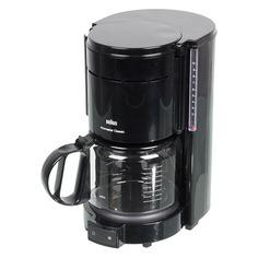 Кофеварка BRAUN KF47/1, капельная, черный [0x13211003]