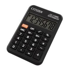 Калькулятор CITIZEN LC-110NR, 8-разрядный, черный