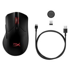 Мышь HYPERX Pulsefire Dart Wireless, игровая, оптическая, беспроводная, USB, черный [hx-mc006b]