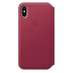 Чехол (флип-кейс) APPLE MQRX2ZM/A, для Apple iPhone X, розовый