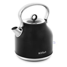 Чайники электрические Чайник электрический KITFORT КТ-671-2, 2250Вт, черный
