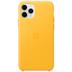 Чехол Apple iPhone 11 Pro Leather Case Meyer Lemon